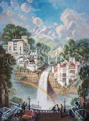 Fabulous Falls-40x30 Print On Canvas