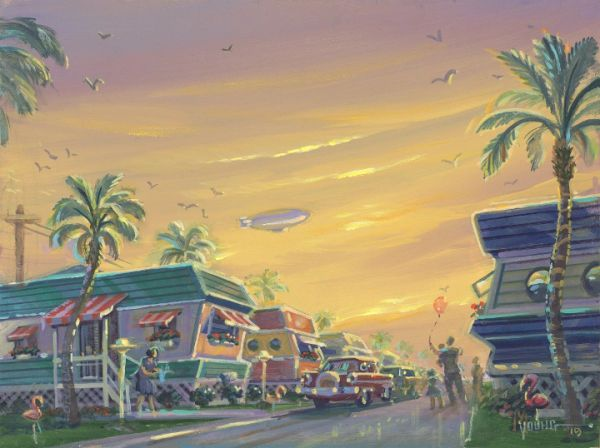 Balloon Sunrise-Original Painting