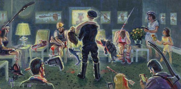 Waiting Room-Original Painting