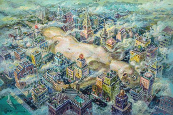 City Girl-24x36 Print On Fine Art Paper