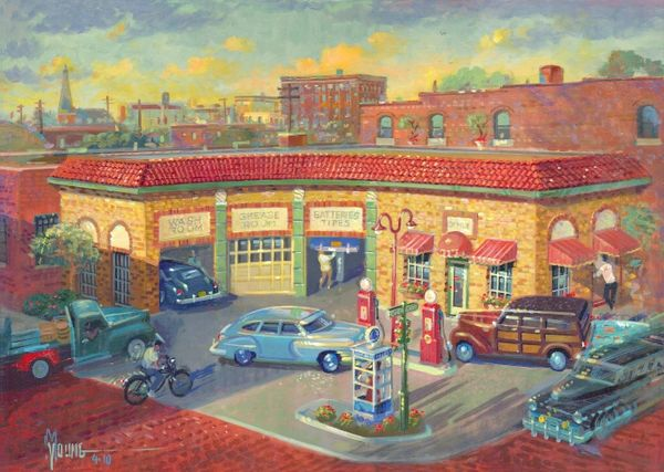 7th And Cherokee-18x24 Print On Matte Paper