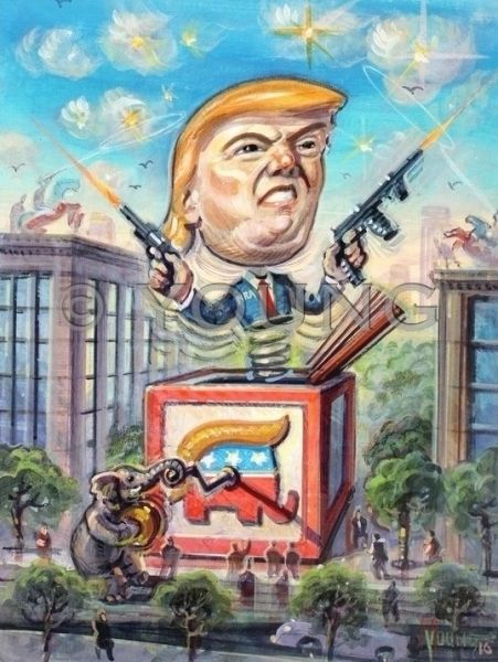 Trump In The Box-12x9 Offset Print