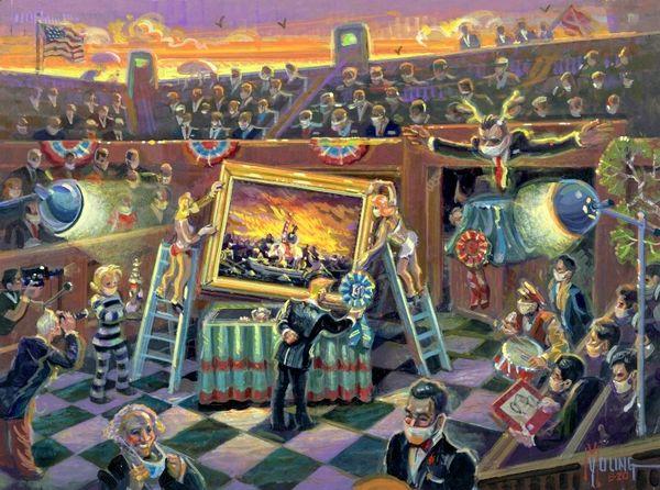 Awarding The Winner-Original Painting