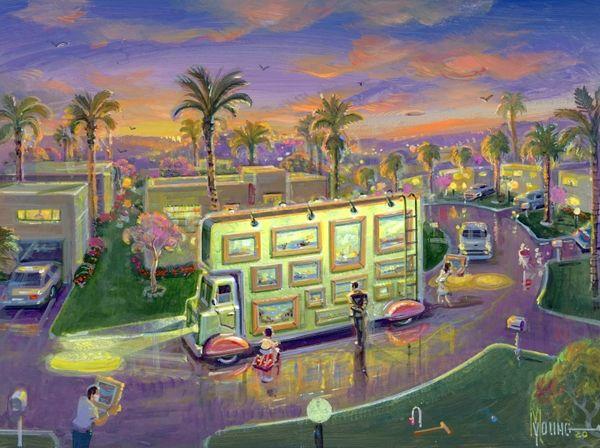 Artmobile-18x24 Print On Canvas
