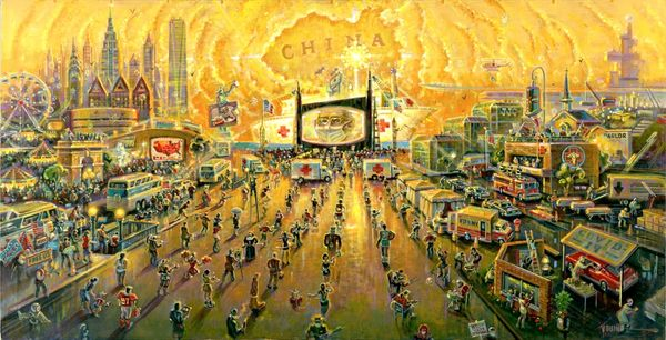 Social Distancing-Original Painting