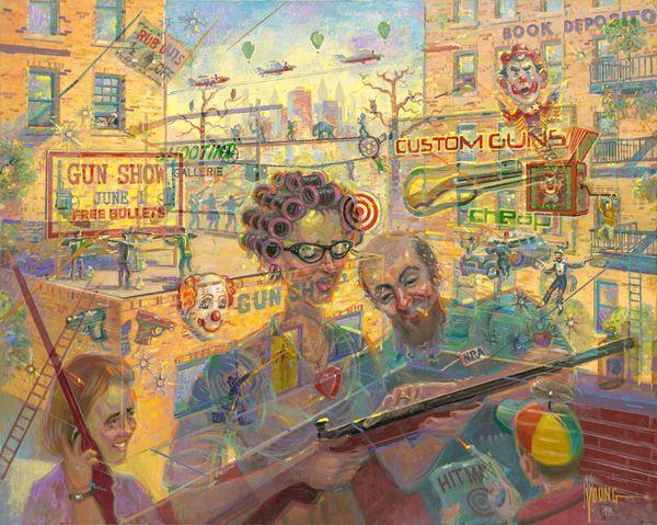 Great Family Guns-32x40 Print On Canvas