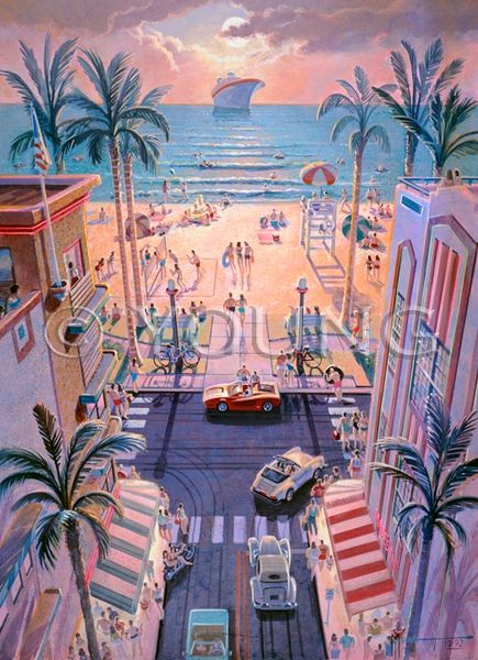 South Beach-24x18 Poster Paper