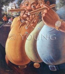 Fat Boys-30x26 Print On Canvas