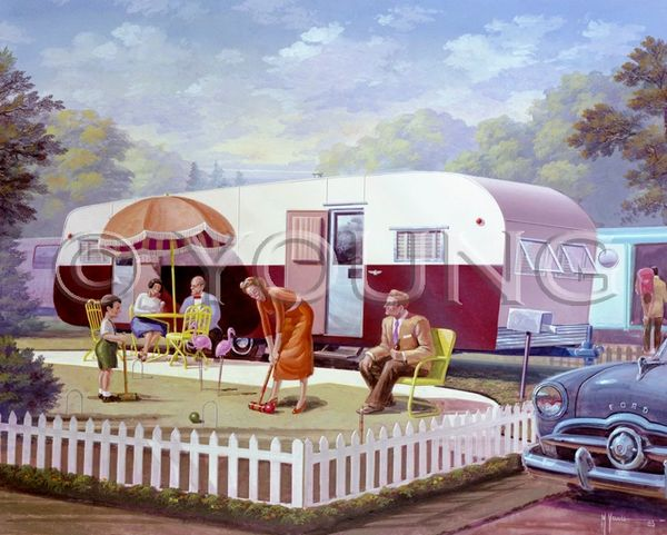 Trailer Croquet-24x30 Print On Canvas