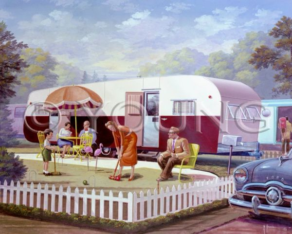 Trailer Croquet-24x30 Print On Fine Art Paper