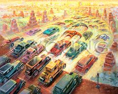 Evolution Of The Vehicle-32x40 Print On Fine Art Paper