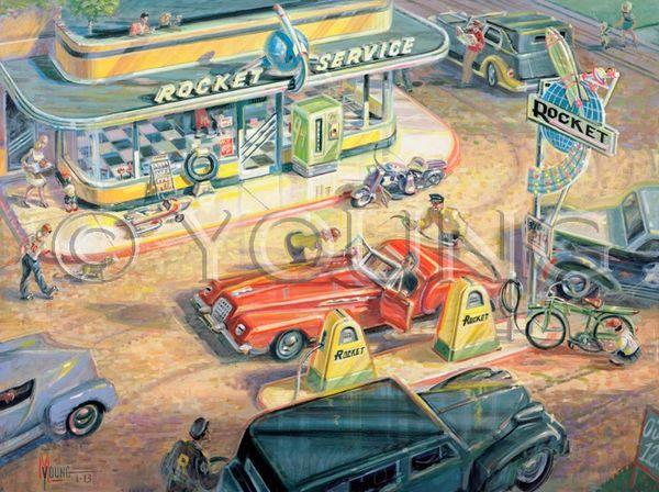 Rocket Fuel-30x40 Print On Canvas