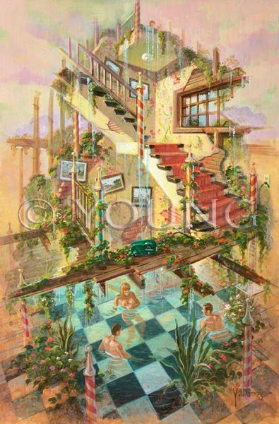 Checkered Pool-36x24 Print On Fine Art Paper