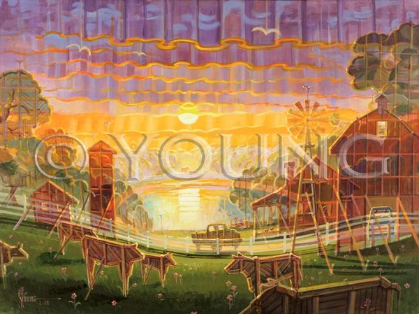Trip To The Funny Farm-30x40 Print On Canvas