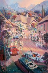 Mountain Retreat-36x24 Print On Canvas