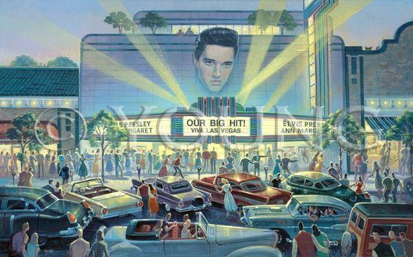 Viva Las Vegas-24x36 Print On Fine Art Paper