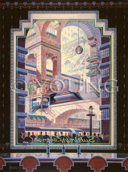 Subway Lounge-24x18 Print On Matte Paper