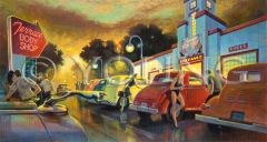 Terrance Body Shop-13x24 Print On Canvas
