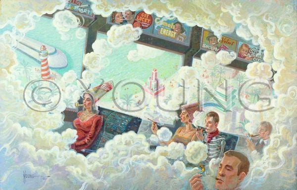 Up In Smoke-24x36 Print On Fine Art Paper