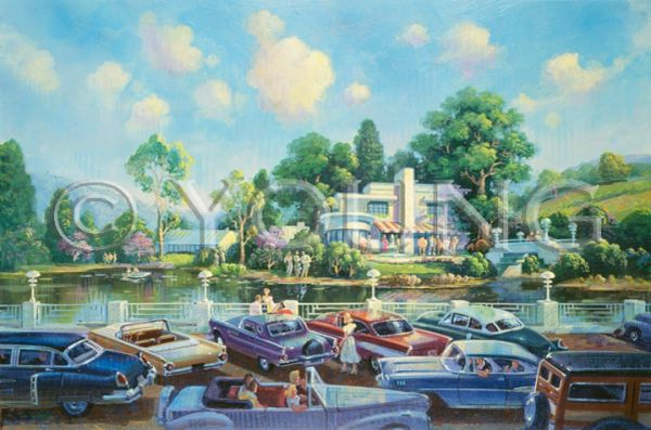 Country Club-20x30 Print On Canvas