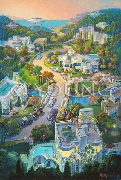 Hillside Living-36x24 Print On Fine Art Paper