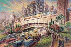 Rush Hour-24x36 Print On Fine Art Paper