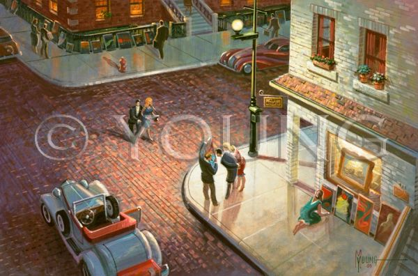 Sidewalk Show-16x24 Print On Matte Paper