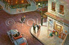 Sidewalk Show-20x30 Print On Canvas