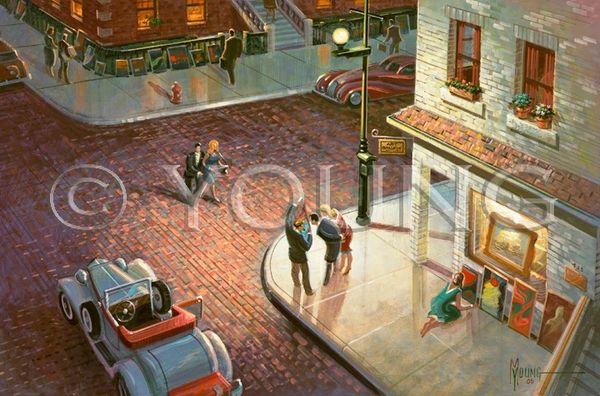Sidewalk Show-20x30 Print On Fine Art Paper