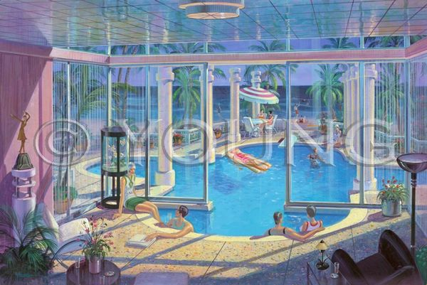 Pool Party-24x36 Print On Fine Art Paper