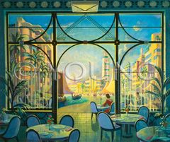 Riverside Dining-24x30 Print On Canvas