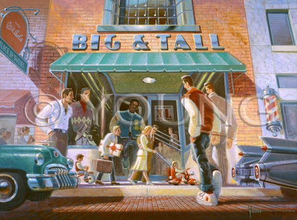 Big And Tall-27x36 Print On Canvas