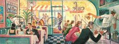 Dave's Diner-12x30 Print On Fine Art Paper
