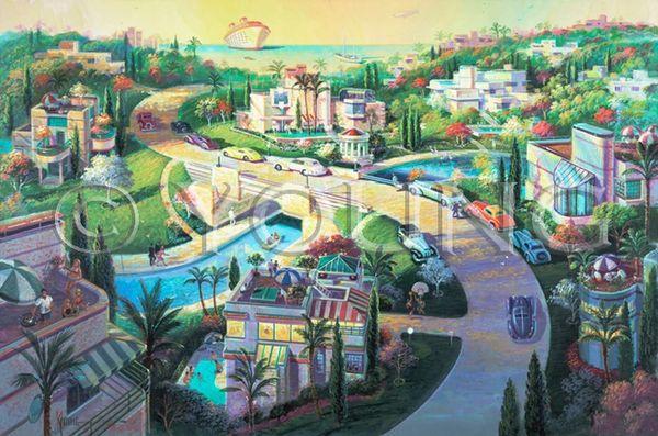 Hillside Living 2 -16x24 Print On Matte Paper