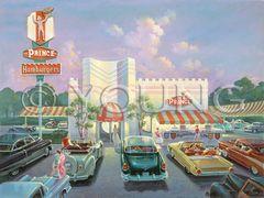 Prince Hamburgers-30x40 Print On Canvas