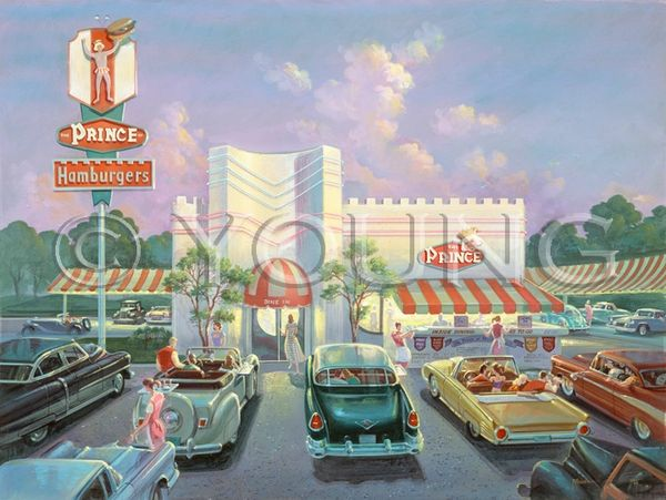 Prince Hamburgers-30x40 Print On Fine Art Paper