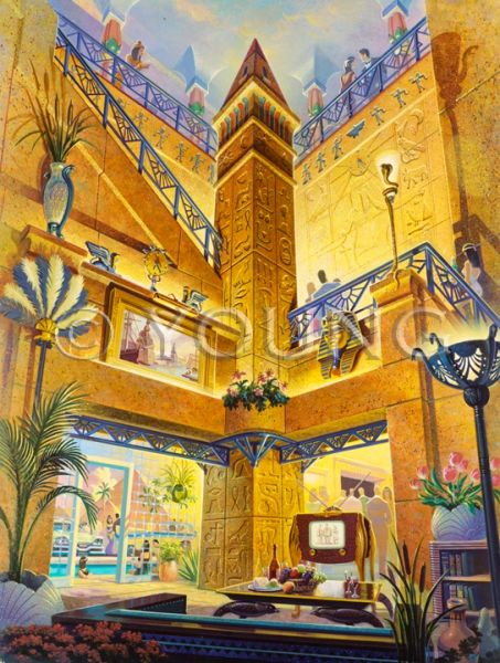 Treasures Of The Nile-24x18 Print On Matte Paper