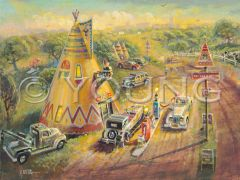 Tepee Junction Revisited-18x24 Print On Canvas