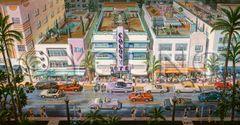 Ocean Drive-16x30 Print On Canvas