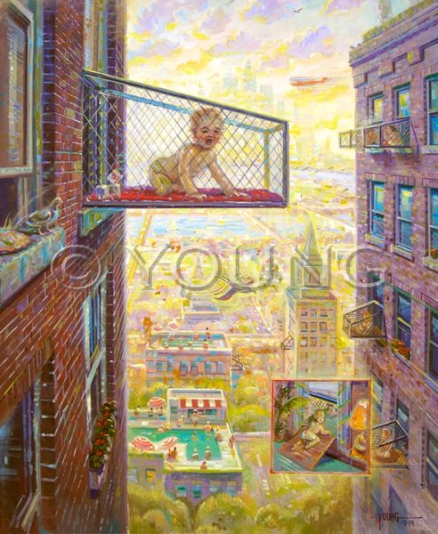 Urban Baby Pens-40x32 Print On Canvas