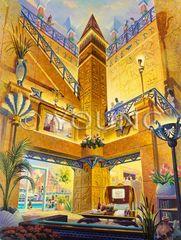 "Treasures Of The Nile - 39""x30"" Serigraph"