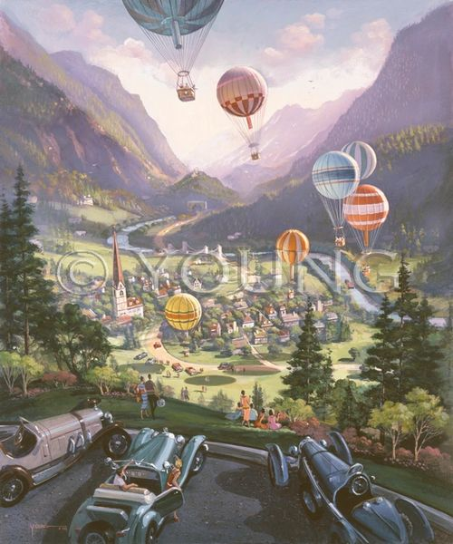 Up Up And Away - 33x28 Lithograph