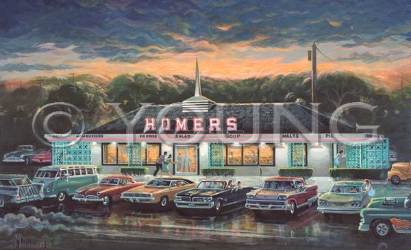 Homers-22x36 Print On Canvas