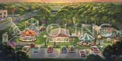 Kiddieland-18x36 Print On Fine Art Paper
