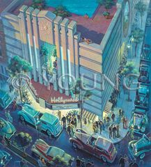 Old Hollywood Theater-30x26 Print On Canvas
