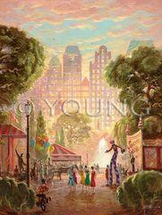 Park Carnival-36x24 Print On Fine Art Paper