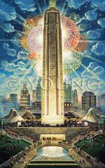 Liberty Memorial Rededicated-25x16 Offset Print