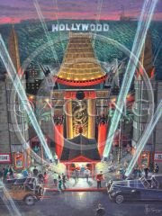 Mann's Chinese Theater-36x24 Print On Canvas