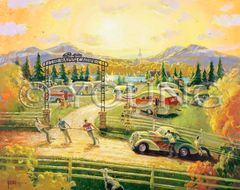 Happy Campers-32x40 Print On Canvas