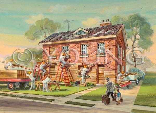 Boarding House-14x18 Print On Matte Paper